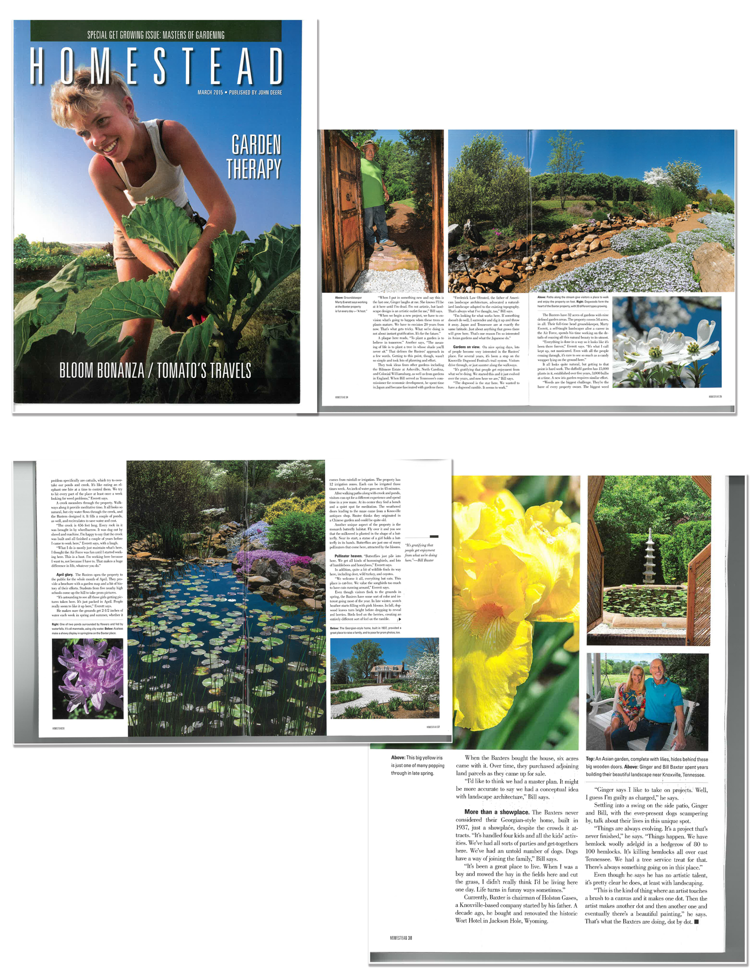 Baxter Gardens Homes and Living magazine feature